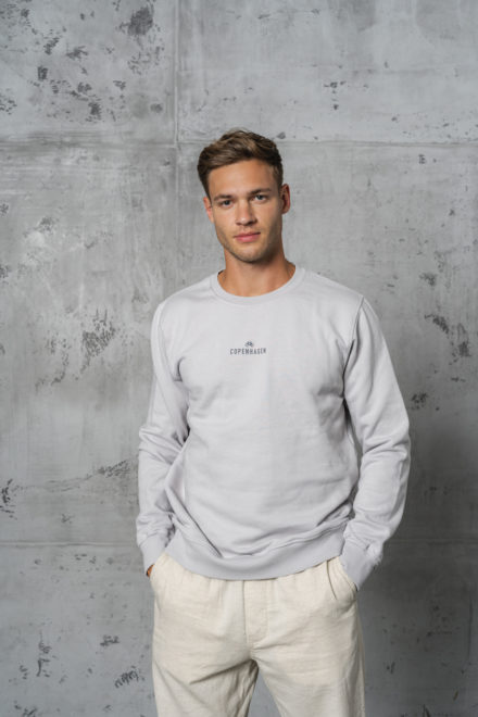 CPH Sweat 1M org. cotton limestone grey
